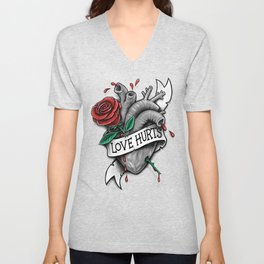 Love Hurts Unisex V-Neck