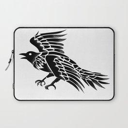 Raven Flying Side Tattoo Laptop Sleeve
