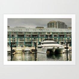 Woolloomooloo Wharf, Sydney Art Print