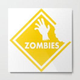 Halloween Zombie Metal Print
