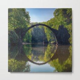 bridge in the nature Metal Print