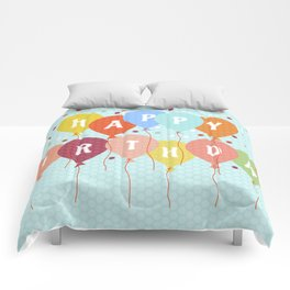 Colorful Birthday card Comforters