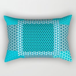 Abstract Turquoise Pattern C1 Rectangular Pillow