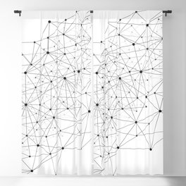 Networks concept and cloud computing, structure of society, variants of decisions, neural network Blackout Curtain