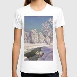 Winter Morning, After New Snow, Along the Emerald Stream by Ivan Fedorovich Choultsé T-shirt
