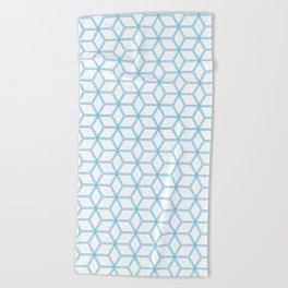Hive Mind Blue #108 Beach Towel