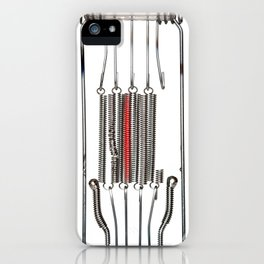 heating spiral - electric light filament iPhone Case