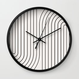 Minimal Line Curvature I Wall Clock