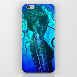 Moody Blue  iPhone Skin