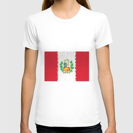 Extruded flag of Peru T-shirt