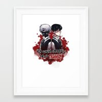 tokyo ghoul Framed Art Prints featuring Tokyo Ghoul TRAGEDY  by lilbutt