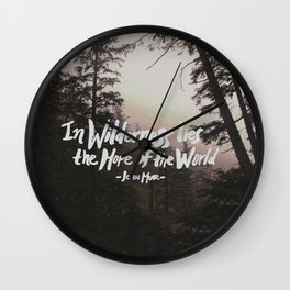 Wilderness Hope x John Muir Wall Clock