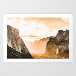 Yosemite Valley Burn - Sunrise Art Print