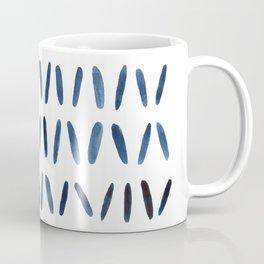 Strokes Pattern | Indigo Watercolor Painting Coffee Mug