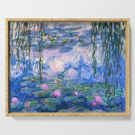 Water Lilies Monet Serving Tray