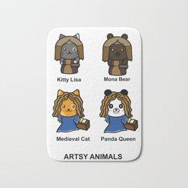 Artsy Animals Bath Mat