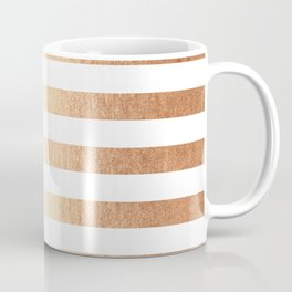 Simply Striped Deep Bronze Amber Coffee Mug