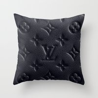 lv Throw Pillows featuring Black LV by I Love Decor