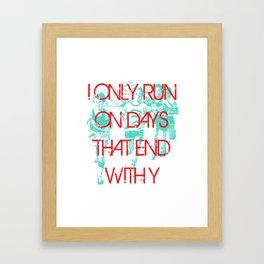 Running Days Framed Art Print