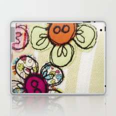 Embroidered Flowers Green Laptop & iPad Skin