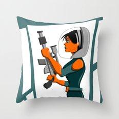 Spacewoman Throw Pillow