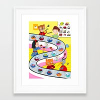 sushi Framed Art Prints featuring Sushi by ilana exelby