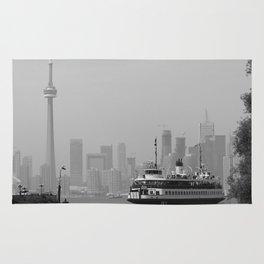 Toronto Skyline Photography Rug