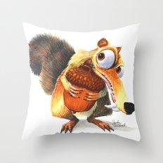 Scrat! Throw Pillow