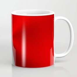 Metallic Red & Silver Geometric Design Coffee Mug