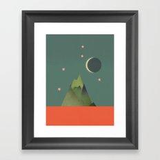 Mountains Under the Stars Framed Art Print