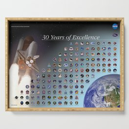 NASA - 30 years of excellence Serving Tray