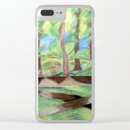 Flash of Scenery Clear iPhone Case