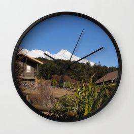 The Mountain Village Wall Clock