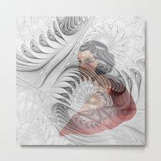 behind the fractal -c- Metal Print