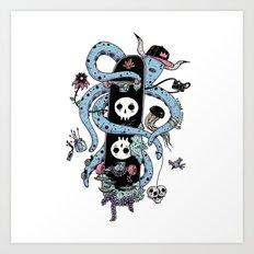 Octopus Skate Color Art Print