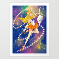 sailor venus Art Prints featuring Sailor Venus  by Moonsia