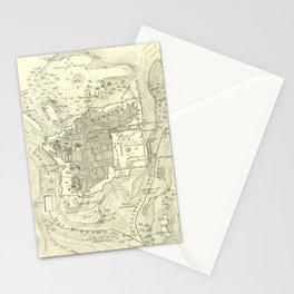 Vintage Map of Jerusalem Israel (1859) Stationery Cards