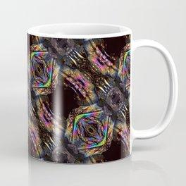 Titanium Quartz with a geometric kaleidoscopic design Coffee Mug
