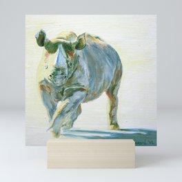 Alex, Rhinoceros Mini Art Print