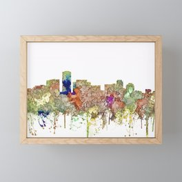 Long Beach, California Skyline - Faded Glory Framed Mini Art Print