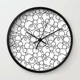 Black & White Bubbles Wall Clock