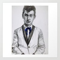 alex turner Art Prints featuring Alex Turner  by Art by GeorgieH