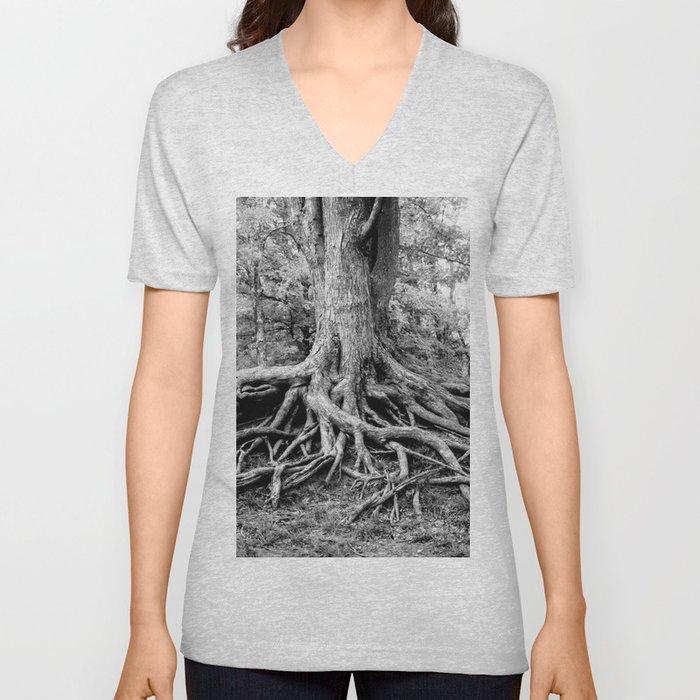 Tree of Life and Limb Unisex V-Neck