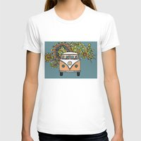 vw bus T-shirts featuring VW bus by Woosah