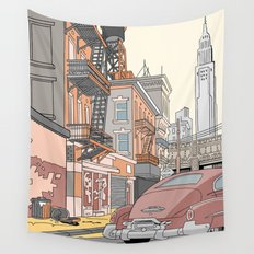 Downtown New York Wall Tapestry