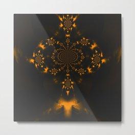 Untitled Yellow Metal Print