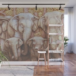 Elephant Walk Wall Mural