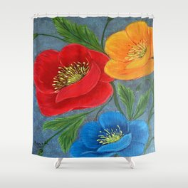 Poppies-3 Shower Curtain