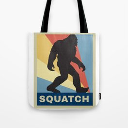 Funny Vintage Retro Sasquatch Bigfoot Gift Silhouette Gag Gift Tote Bag