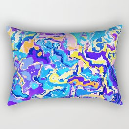 Colorful Waves Rectangular Pillow